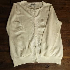 NWT ALFRED SUNG PURE sequenc Button-up Cardigan